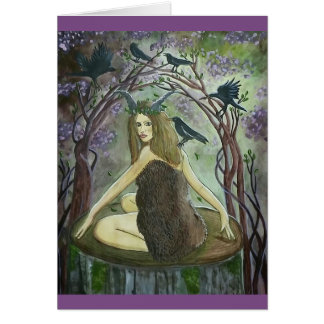 Merry Beltane Magic! - Witch Art Greeting Card