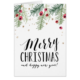 Modern Christmas Cards from Zazzle