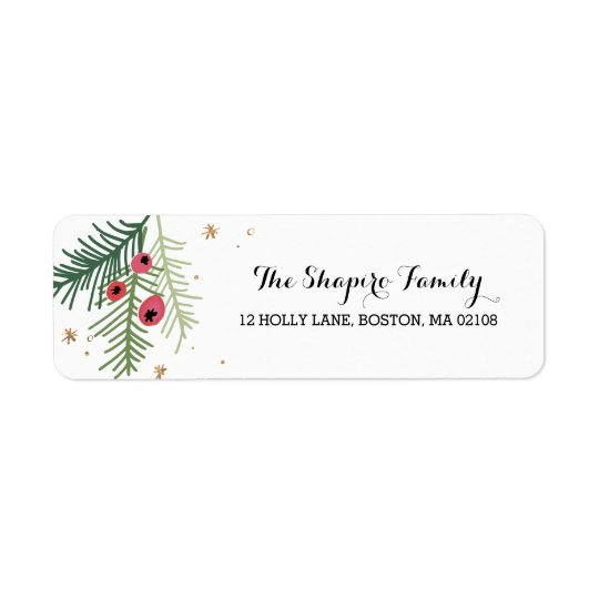 Merry Berry Collection Return Address Label