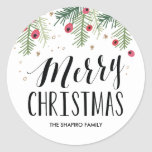 Merry Berry Collection Round Sticker