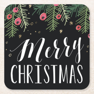 Merry Berry Collection Square Paper Coaster