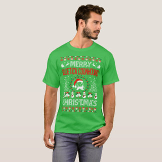 Merry Bluetick Coonhound Dog Christmas Ugly Tshirt