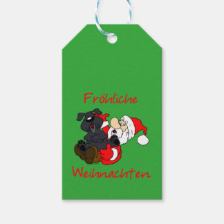 Merry Bouvier Christmas Gift Tags