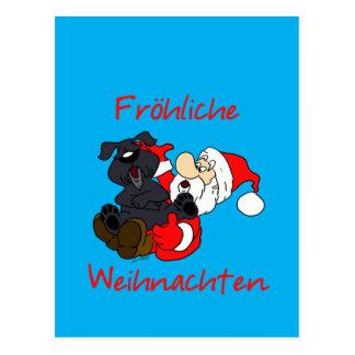 Merry Bouvier Christmas Postcard