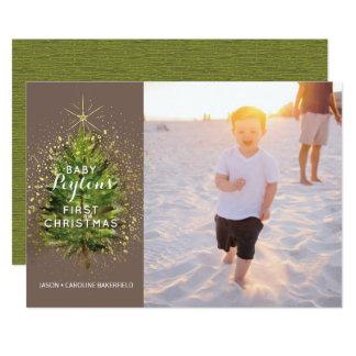Merry + Bright Baby Card w/white envelope