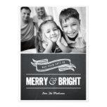 Merry & Bright Chalkboard Christmas Cards Custom Invitations