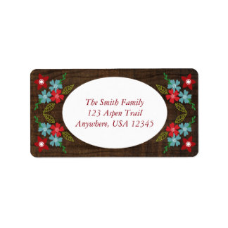Merry & Bright Christmas Address Labels