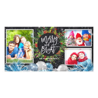 Merry Bright Christmas Holiday Greeting Photo Card