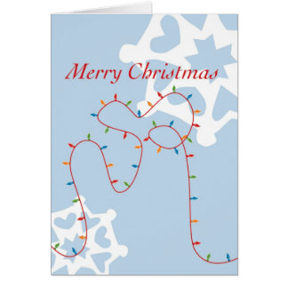 Merry & Bright Christmas Lights  Card