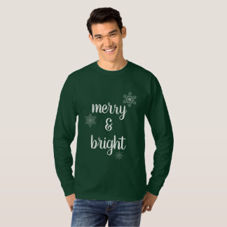 Merry & Bright Christmas Snowflakes T-Shirt