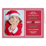 Merry & Bright Christmas to you. Custom Photo Card