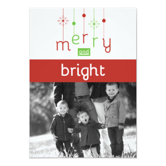Merry & Bright Customizable Christmas Cards 13 Cm X 18 Cm Invitation Card
