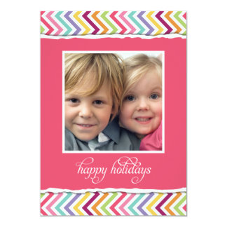 Merry & Bright Double Sided Holiday Photo Card 13 Cm X 18 Cm Invitation Card