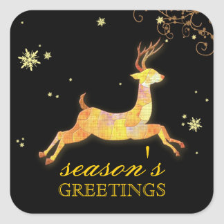 Merry Bright Fun Caribou Holiday Greetings Sticker