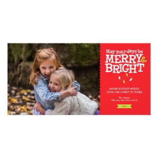 Merry & Bright Fun Christmas Lights Photo Card