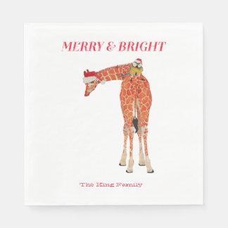 Merry & Bright Giraffe Napkin Standard Luncheon Napkin