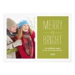 MERRY & BRIGHT  | HOLIDAY PHOTO CARD CUSTOM INVITE