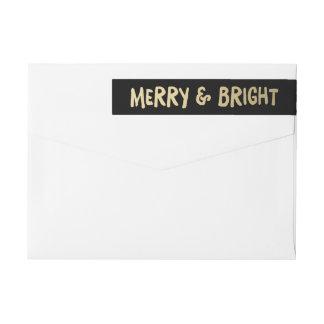 Merry & Bright   Holiday Return Address Labels Wraparound Return Address Label