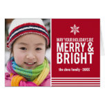 Merry & Bright Holiday Stripes Folded Christmas Ca Cards