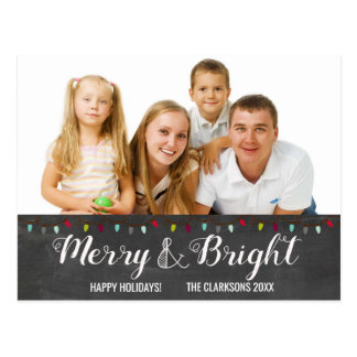 Merry & Bright Lights | Christmas Postcard