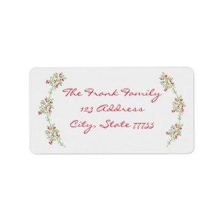 Merry & Bright Mistletoe Christmas Address Label