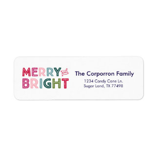 Merry & Bright Multicolor Return Address Label
