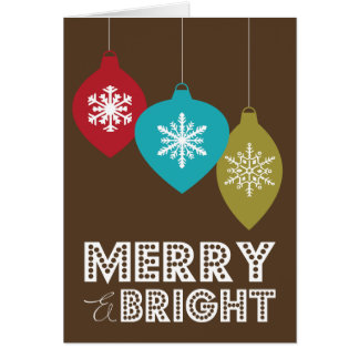 MERRY & BRIGHT ORNAMENTS | FOLDED HOLIDAY CARD