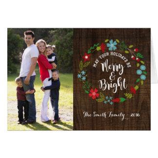 Merry & Bright Photo Christmas Greeting Card