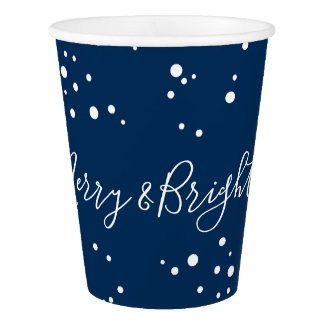 Merry & Bright Snow Bubbles Holiday Party Cups
