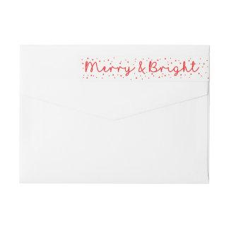 Merry & Bright Snowflake wraparound label
