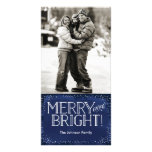 Merry, Bright & Snowy | Holiday Photo Card Navy