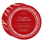 Merry & Bright Sparkles Chic Holiday Party Invite