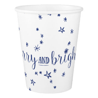 Merry & Bright Stars Holiday Party Cups
