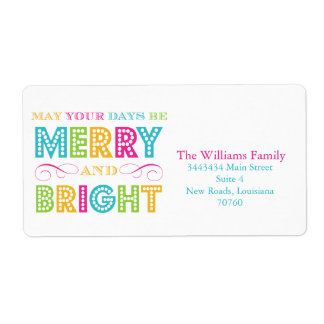 Merry & Bright (Today's Best Award) Shipping Label