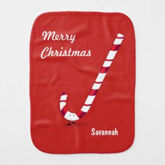 Merry Candy Cane   Burp Pad Burp Cloth