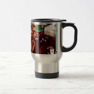 Merry Cat Elf Christmas goodies Mug