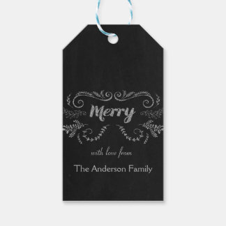 Merry Chalkboard gift tags