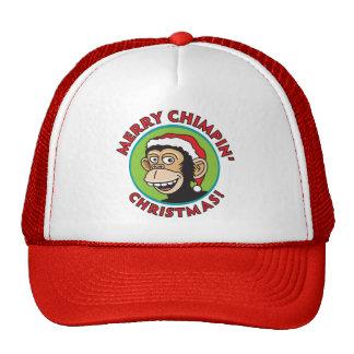 Merry Chimpin' Christmas Cap