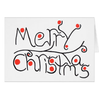 Merry chirstmas christmas card