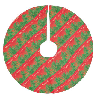 Merry Chirstmas Design Brushed Polyester Tree Skirt