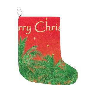 Merry Chirstmas Design Large Christmas Stocking