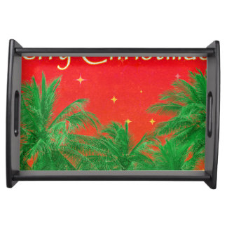 Merry Chirstmas Design Serving Tray