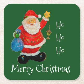 Merry Chirstmas with Santa Beverage Coasters