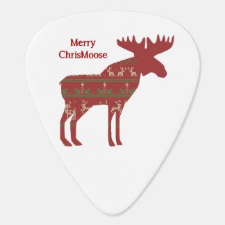 Merry ChrisMoose Funny Christmas Moose Animal Art Guitar Pick