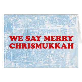 merry chrismukkah greeting cards