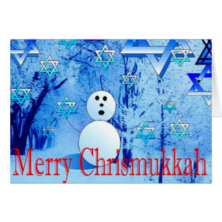 Merry Chrismukkah Judao-Christian Greeting Card