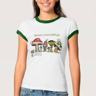 Merry ChrisMUSH Cartoon Mushrooms T-Shirt
