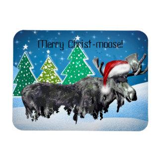 Merry Christ-moose magnet