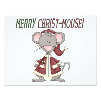 Merry Christ-Mouse T-shirts and Gifts Custom Invitations