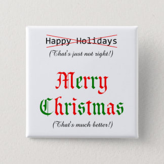 Merry Christmas 15 Cm Square Badge